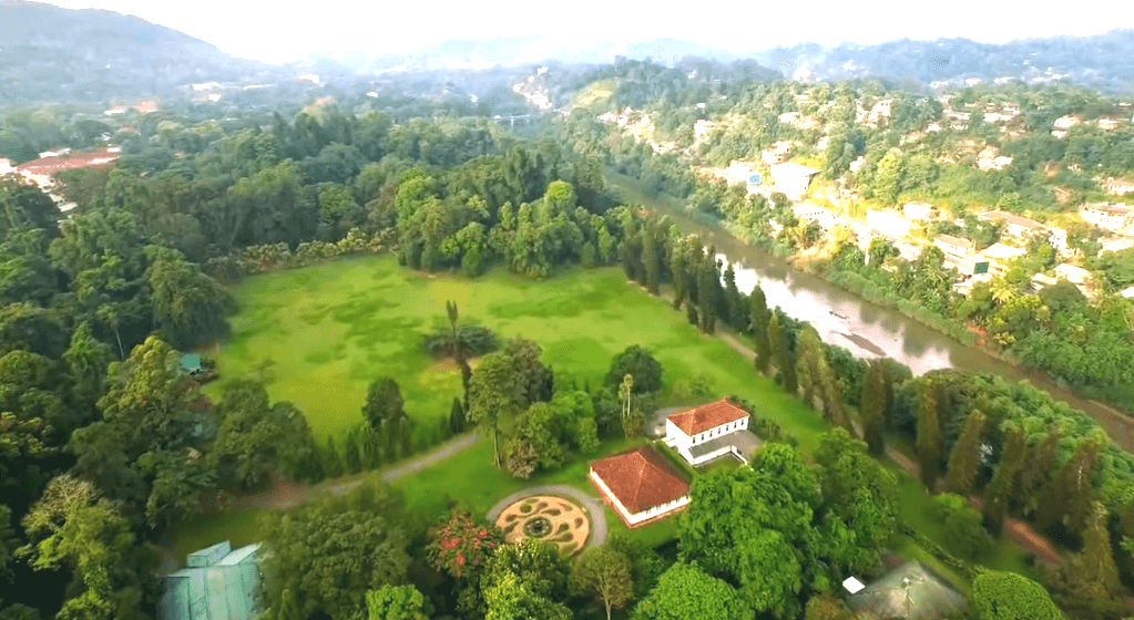 Royal botanical garden peradeniya areal view