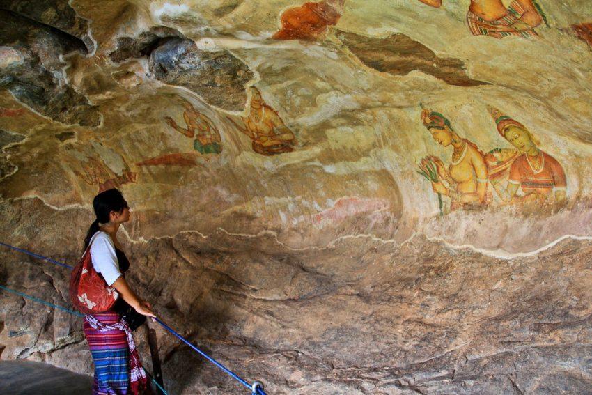 Sigiriya frescoes, Sri Lanka Cultural Triangle Tour