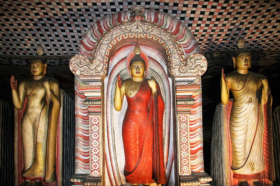 statues of dambulla cave temple, SL tour, Our SL Tour / Sri Lanka Tour