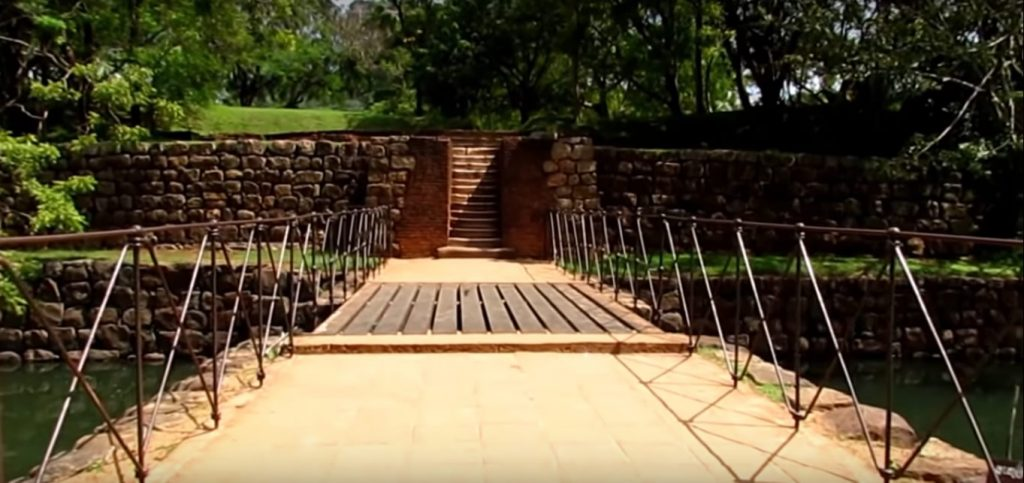 The entrance of the Sigiriya rock Fortress, Entrance to the Sigiriya fountain garden