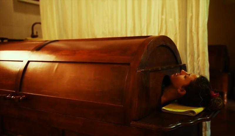 Ayurveda steam bath treatment